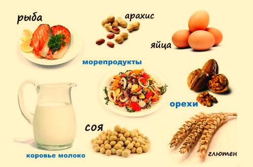 Продукты вызывающие пищевую аллергию